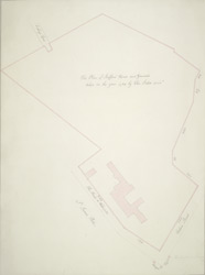 The plan of Stafford House and grounds taken in the year 1725